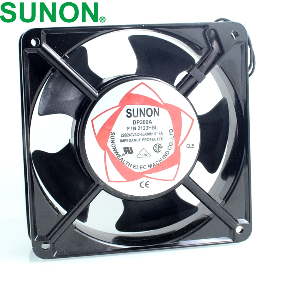 cabinet cooling fan DP200A P / N 2123HSL 220V Axial Fans 120 * 120 * 38mm sunon free shipping new original taiwan blower fan dp200a p n2123hsl 1238 12cm 12038 120 120 38mm 220v wire type