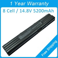 New 8 cell laptop battery for asus A7S A6N A3N Z90R Z91F Z93E A7Gb Z92F A6000V Z9200Vc 70-NDK1B1001 90-ND01B1000 90-NFJ1B1000