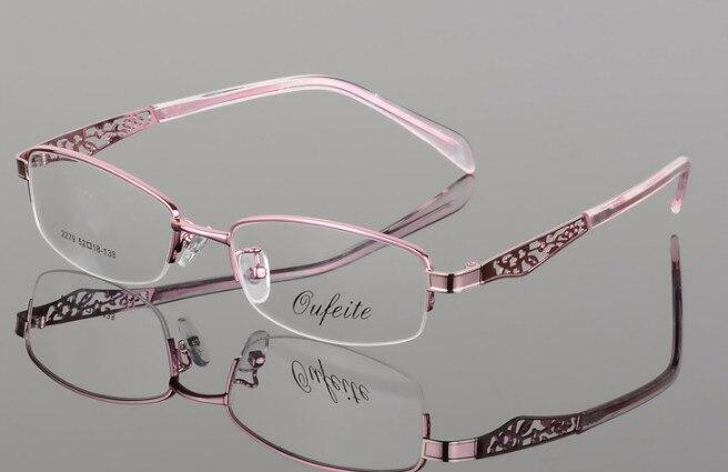4a06506f35 De las mujeres terminado miopía gafas señora short-sighted gafas de color  rosa Marco de gafas de-0,50 a- 6,00