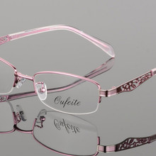Metal women finished myopia glasses lady short-sighted Glasses