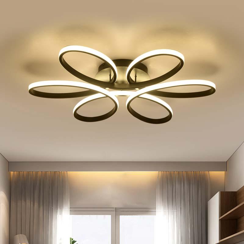 居間の寝室のための現代導かれた天井灯現代ランプ天井ランプは減衰の家庭用照明器具を導いたAC110V-220Vлюстравскандинавскомстилевспальне