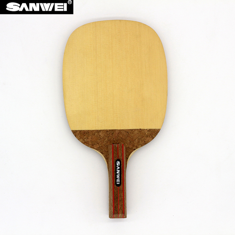 SANWEI R2 HINOKI Table Tennis Blade (1 Ply HINOKI) Japanese Penhold Solid Cypress Racket JS Ping Pong Bat dhs hurricane ning 5 ply off table tennis blade for ping pong racket penhold short handle cs
