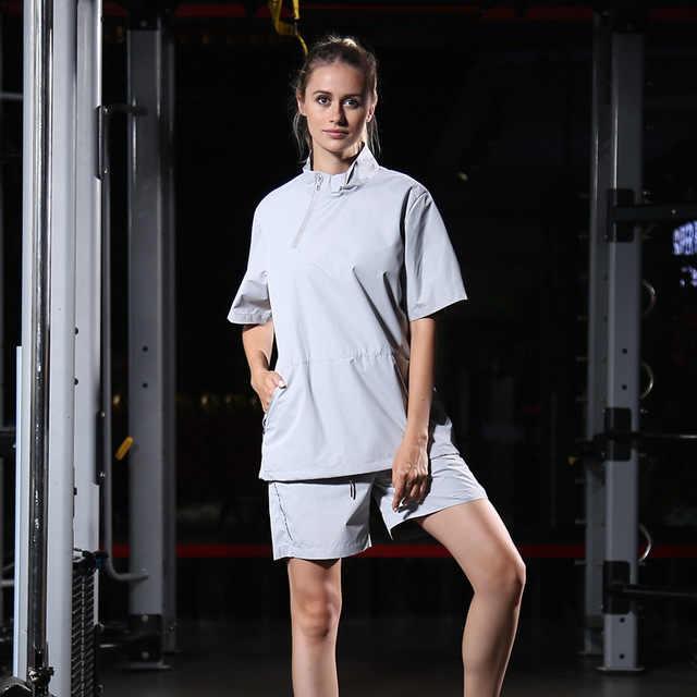 Взрывной спортивный костюм женский спорт фитнес Йога с коротким рукавом костюм потливая одежда для похудения костюм для бега спортивная одежда
