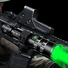 Professional Green light Tactical LED Flashlight torch for Hunting Night Scout Set L2 Fish Light USB Rechargeable Waterproof(China)