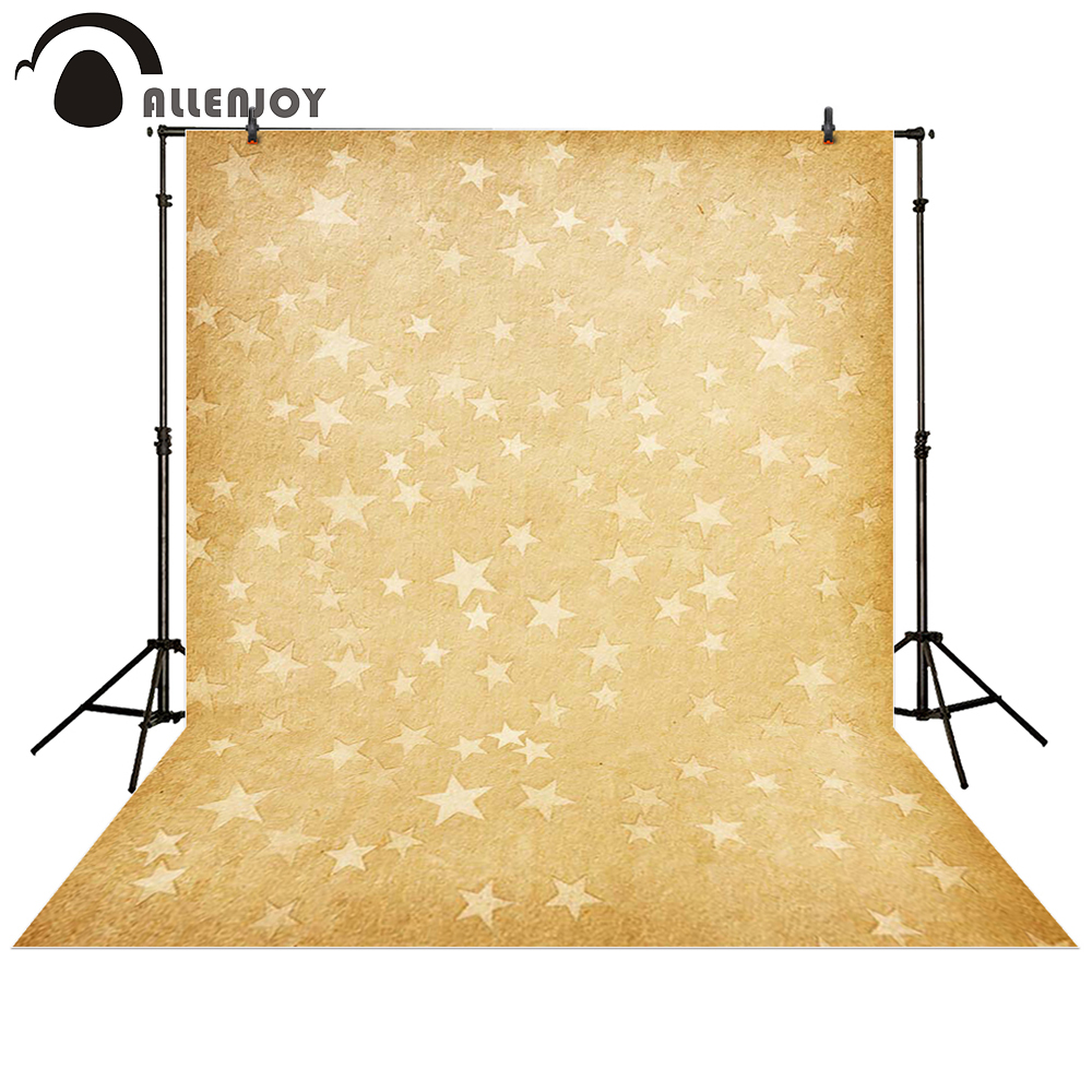 Allenjoy photography backdrop Star Yellow Retro baby shower children background photo studio photocall allenjoy photography backdrop brick wall wooden floor white baby shower children background photo studio photocall