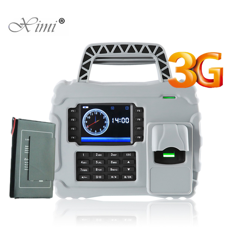 ZK S922 IP65 Waterproof Dust Proof Shock Proof 3G TCP/IP Fingerprint Time Attendance Time Clock Built-in 7600mAh Backup Battery