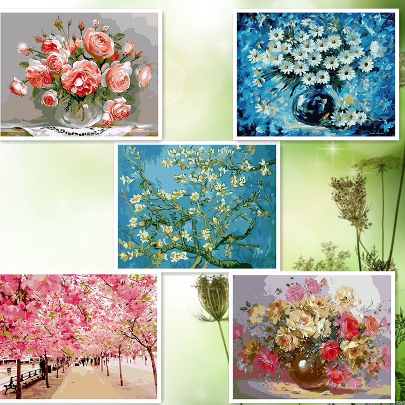 Compare prices on free rose drawings online shopping buy for Best brand of paint for kitchen cabinets with cherry blossom canvas wall art