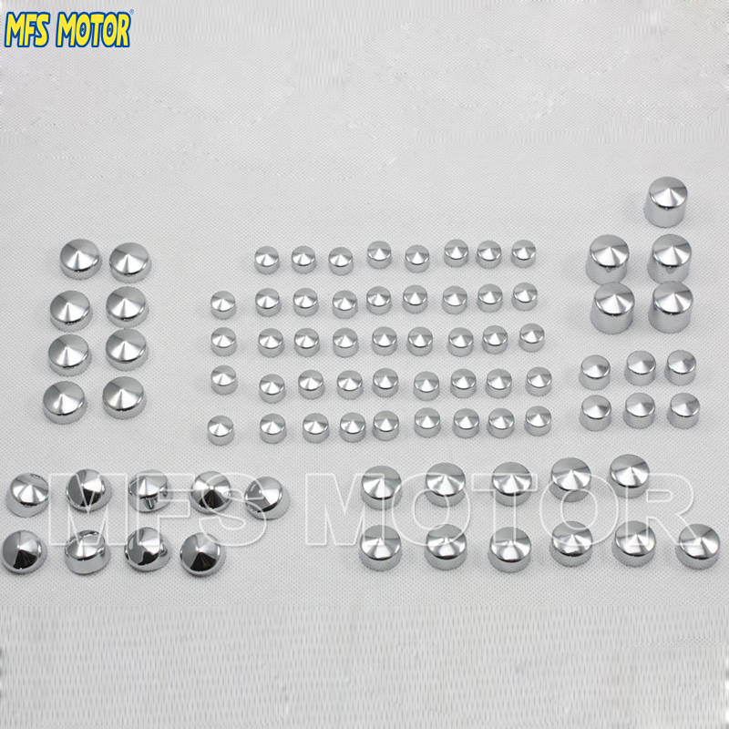 Motorcycle Part New Bolt Toppers Cap For Harley Twin Cam Road KingFLH Model 1999 2000 2001 2002 2003 2004 2005 2006 Chrome