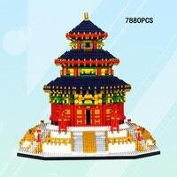 Всемирно известная старинная архитектура микроконструктор строительный блок Китай, Пекин храма неба кирпичи Коллекция игрушек Nanoblock