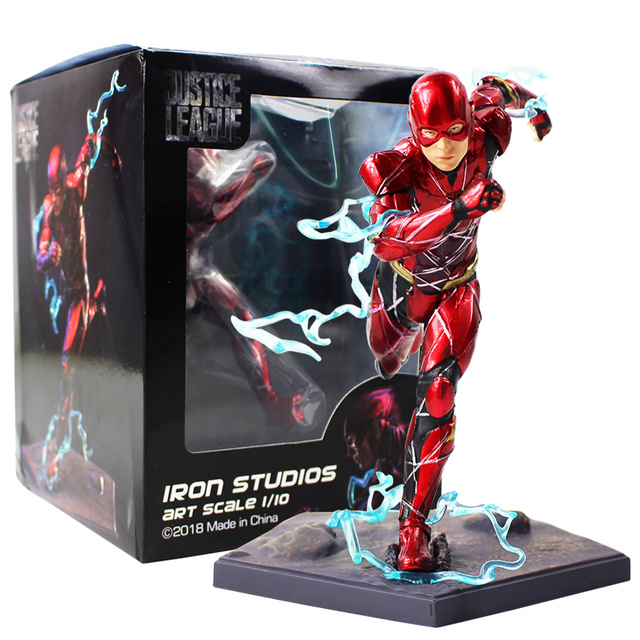 16cm 플래시 아이언 스튜디오 Justice League Art Scale 1/10 PVC 액션 피규어 소장 모델 장난감
