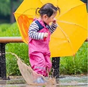 Image 4 - الأطفال السراويل المطر مقاوم للماء جديد 2018 ماركة وزرة مقاوم للماء 1 7Yrs طفل الفتيان الفتيات وزرة موضة الاطفال وزرة