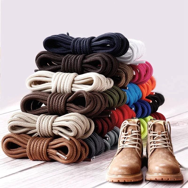 1Pair 21 Color Round Shoelaces Polyester Solid Classic Shoe Laces Boots Sneakers Shoelace Strings 90cm 120cm 150cm Length
