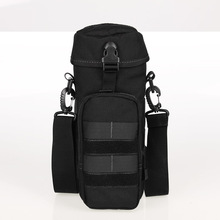 Free Shipping Nylon Water Bottle Pouch Zipper Waterproof Camo Molle Kettle Bag Military Waist Packs for