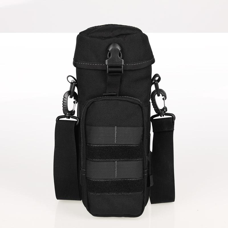 Free Shipping Nylon Water Bottle Pouch Zipper Waterproof Camo Molle Kettle Bag Military font b Waist
