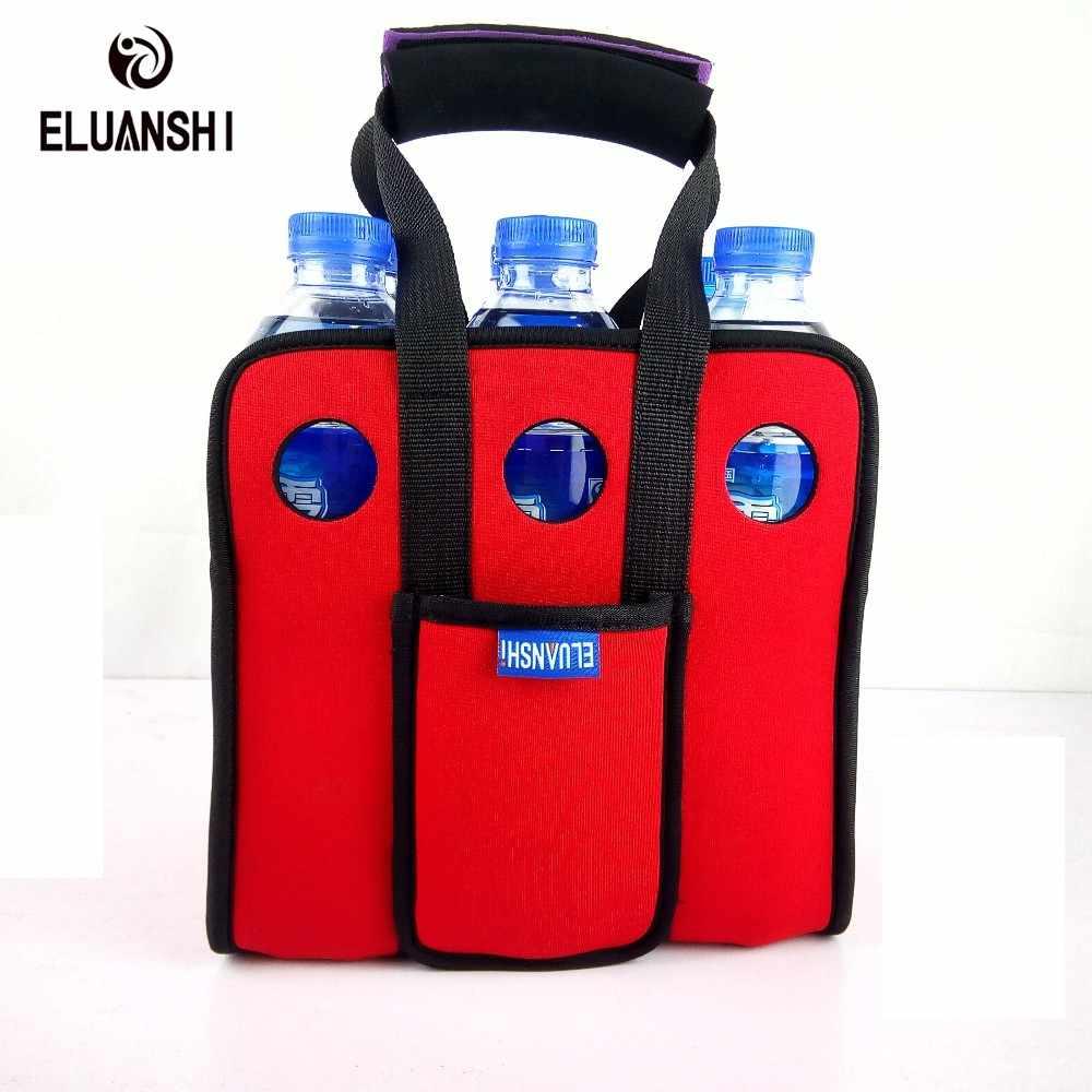Neopren Wein Bier 6 können Kühler Tasche Draußen Eis Gel tasche Picknick CoolSacks Weinkühler box Kältemaschinen Gefrorene Tasche Flasche kühler