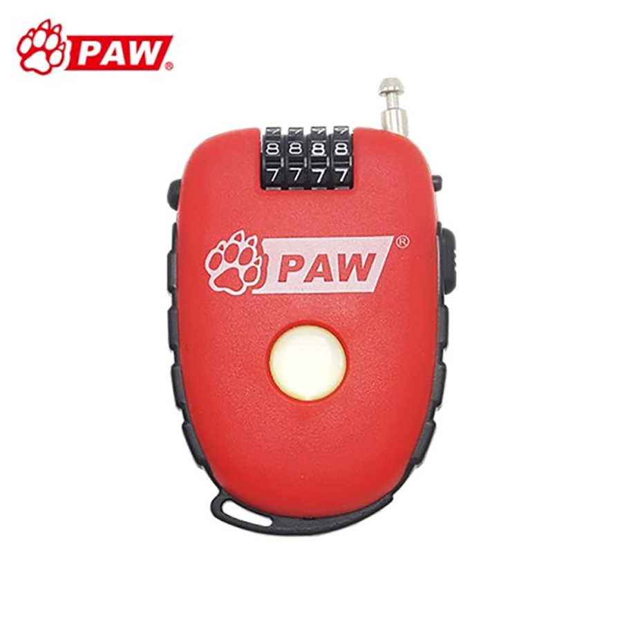 PAW Mountain Road Bike Lock Multi-application Bicycle Password Locks Chain Lock 4 Digit Code Security Key Locks Anti-Theft Red Замок