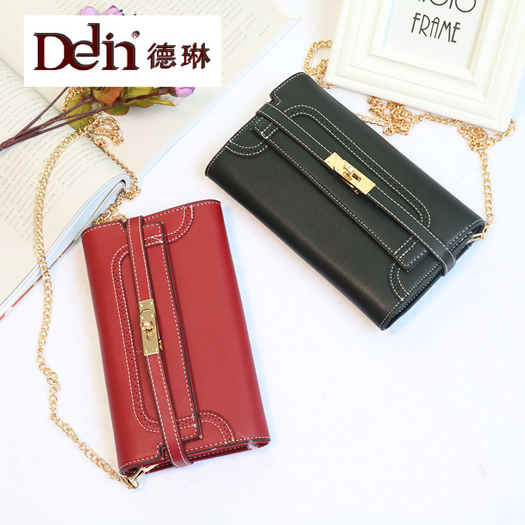 DELIN  2017 new handbag manufacturers selling  Ladies lock Single Shoulder Bag Messenger Bag small compartment