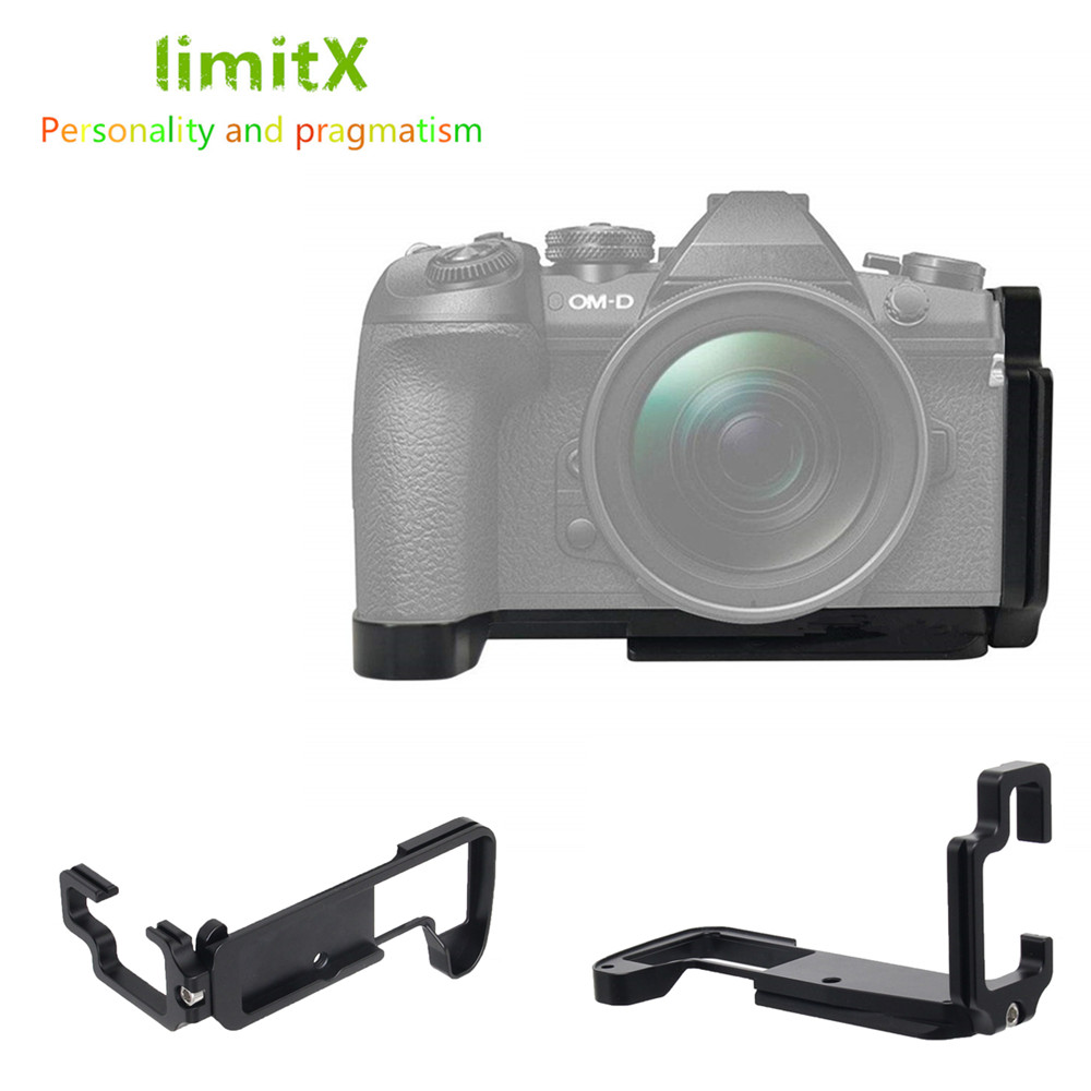 MENGS E-M5 II L-Shaped Quick Release Plate With Hand Grip And Aluminum Alloy Material For Olympus OM-D E-M5 II Camera