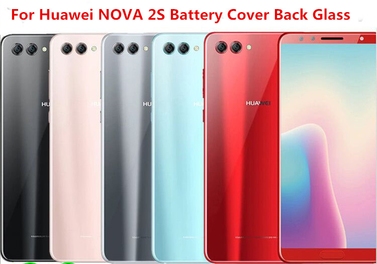 Housing-Case Camera-Lens Battery-Cover Glass Back-Door Huawei Rear for NOVA 2S  title=
