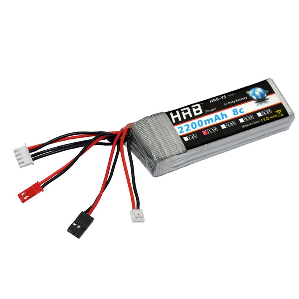 HRB RC Lipo 3 S Batterie 11.1 V 2200 mAh 8C Max 16C Akku Bateria Pour RC Walkera DEVO 7/7E/10 Émetteur récepteur