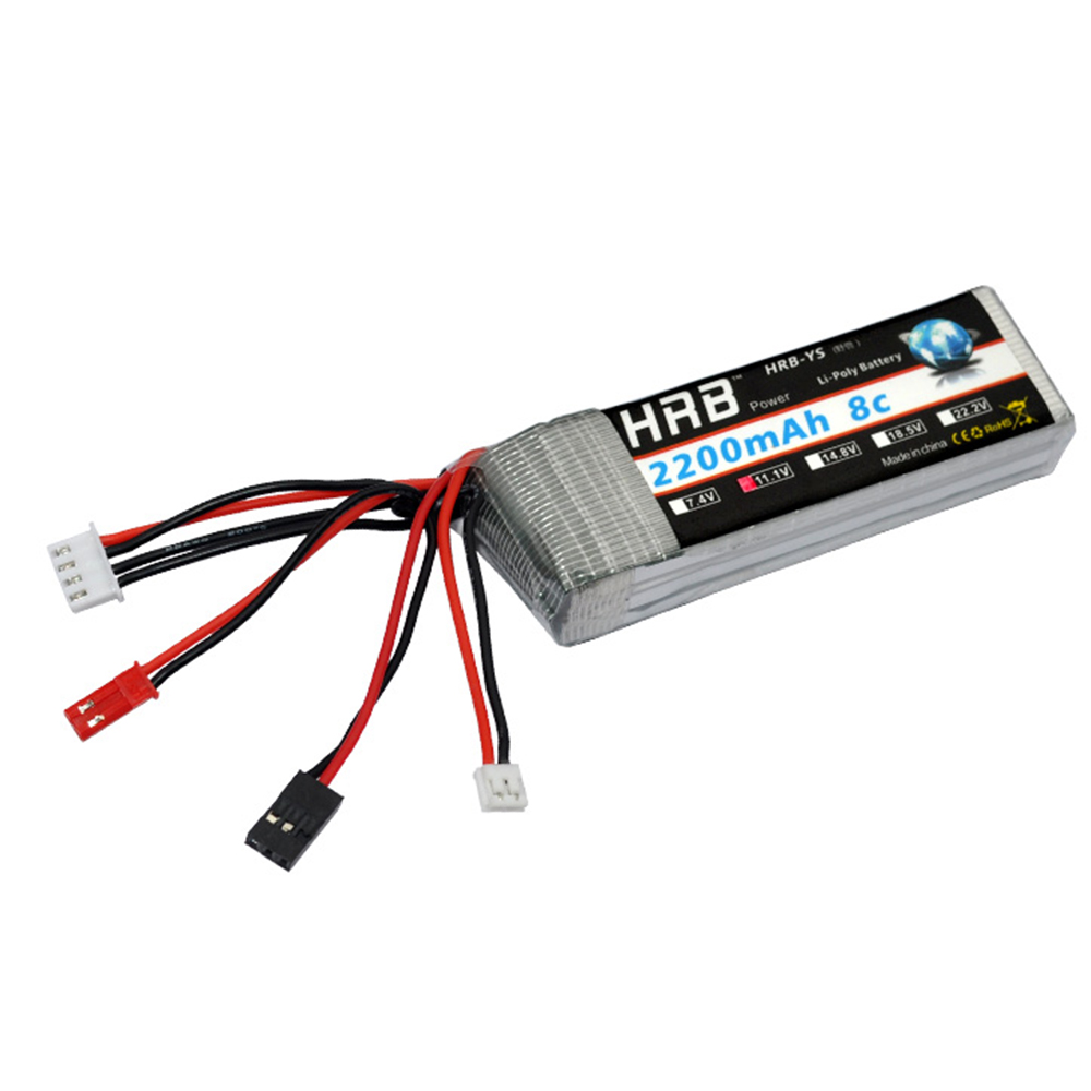 HRB RC Lipo 3S Battery 11.1V 2200mAh 8C Max 16C Akku Bateria For RC Walkera DEVO 7 / 7E / 10 Transmitter Receiver стоимость