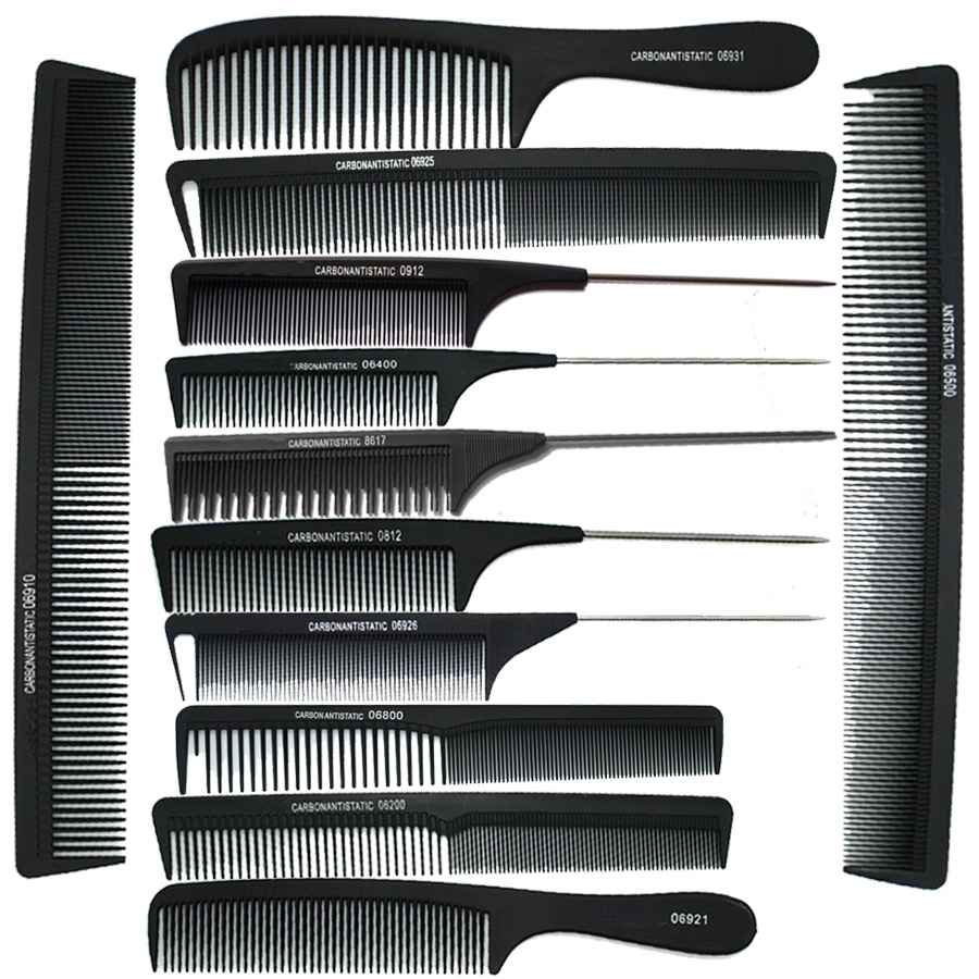 hair styling combs aliexpress buy 12pices black professional 7677 | Hot sale 12pices Black Professional Combs Hairdressing Hair Salon Styling Barbers Comb Set Kit Rat Tail