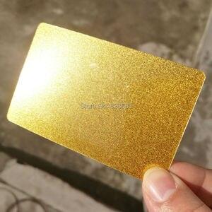 Image 3 - Высококачественная блестящая металлическая золотистая пластиковая Визитная карточка, индивидуальная печать 100 карт в дизайн