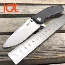 LDT 0562 CF Folding Knife 9CR18MOV Blade Titanizing Steel G10 Handle Ball Bearing Flipper Camping Tactical Knives Outdoor Tools