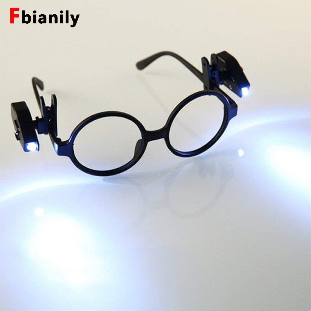 Mini 2pcs Flexible Book Reading Lights Night Light For Eyeglass And Tools Mini LED Eyeglass Clip On Universal Portable