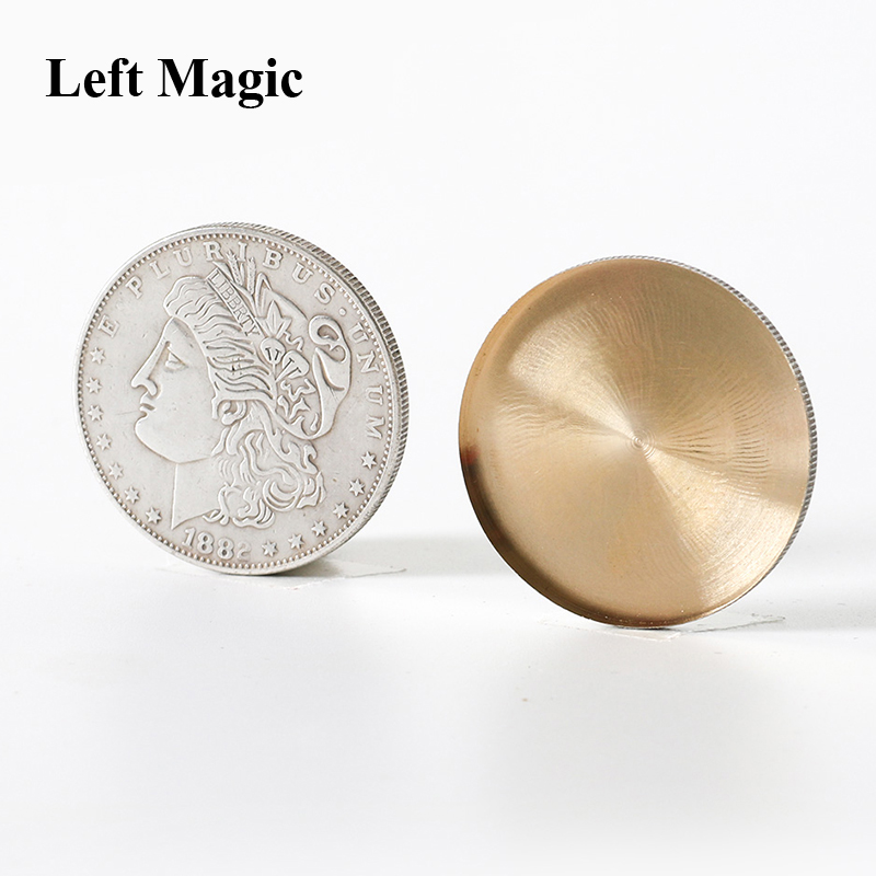 1 Pcs Expanded Shell (Super Morgan Dollar Version) Magic Tricks For Appearing/Disappearing Magic Close Up Coin Props Accessories