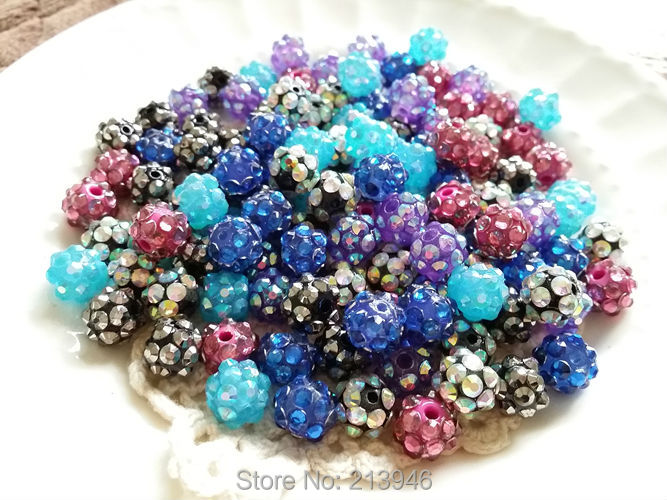 New Arrival!!!blue 10mm 50pcs/pack Crystal Crystal Beads .crystal Necklace Bracelet Accessories Beads & Jewelry Making