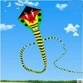 Бесплатная доставка высокое качество 15 м змея кайт с ручкой линии ripstop нейлон открытый игрушки дети воздушных змеев завод большой кайт колесо орел