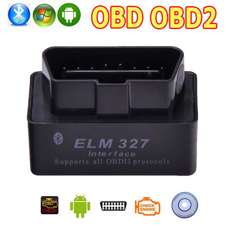 NEW OBD2 OBD ii Wireless V2.1 Super MINI ELM 327 Bluetooth OBD OBD 2 ELM327 Interface BT for Android Torque/PC Diagnostic Tool