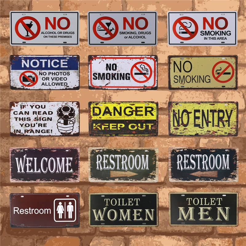US SELLER Free Wi-Fi metal tin sign metal signs for sale