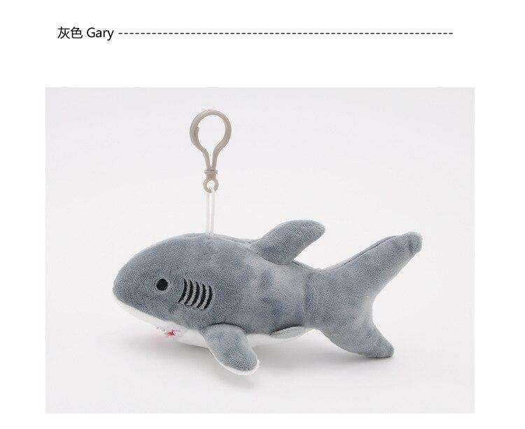 """Happy Shark"" Cute Plush Shark (Random Color blue / grey / pink) 8"