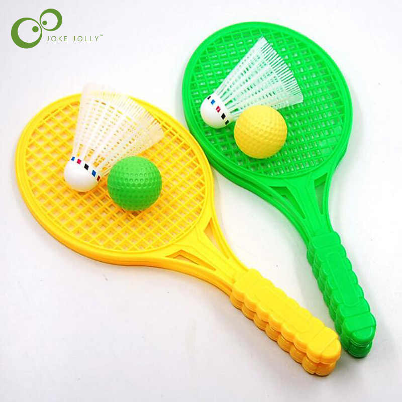 1 Set  Beach Tennis Kids Dual Tennis Racket Ball Set Outdoor Sports Mini Badminton Racket For Children Beach Rack LYQ