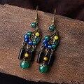 2016 Nova mulheres brinco ágata copper alloy design especial acessórios party girl dangle brincos de alta qualidade jóias étnicas D121