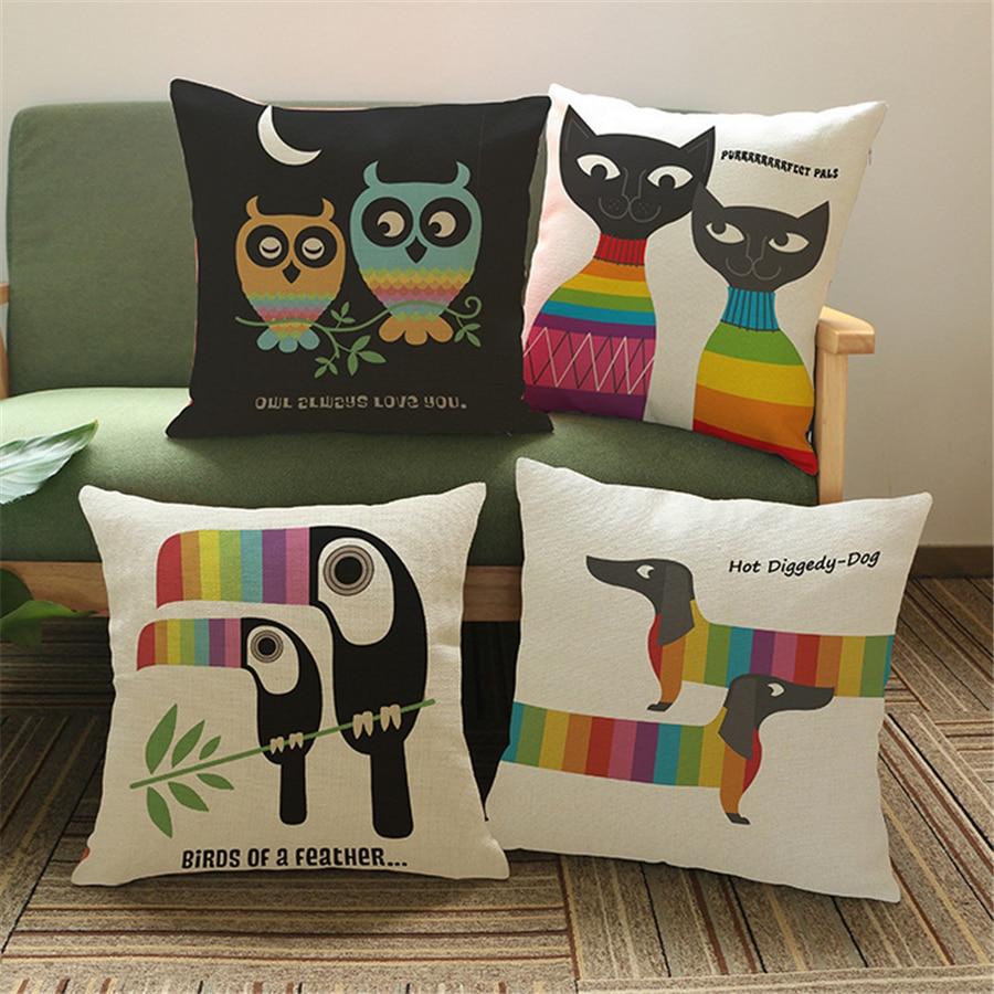 Animal Owl Velvet Cushion Cover Sofa Decorativos Vintage Pouf Outdoor Scandinavian Style Decorative Pillows Case Home Decor e682