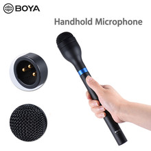 BOYA – Microphone dynamique portatif sans fil, omnidirectionnel, XLR, longue poignée pour ENG, Interviews et collecte de nouvelles