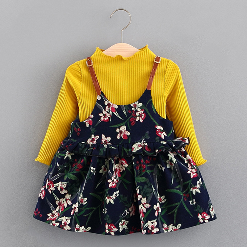 Honesty 2018 Children Floral Dress 4 Years Short Sleeve Casual Cotton Girls White Dress Baby Girl Clothes 3 Years For Kids Fashion Mother & Kids
