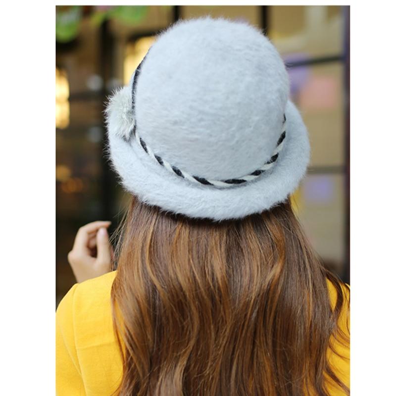 Елегантна модна зимна шапка федора за - Аксесоари за облекла - Снимка 2
