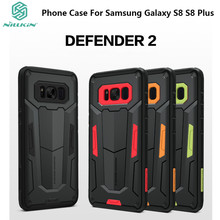 For Samsung Galaxy S8 S8+ NILLKIN Defender II Neo Hybrid Armor Slim Back Cover For Galaxy S8 S8 Plus Phone Case 5.8''& 6.2''