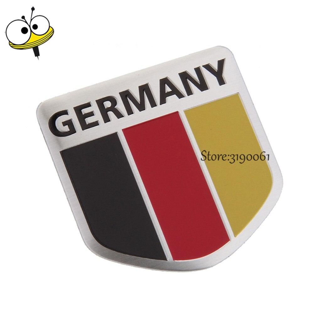 Car Styling Auto Car Sticker Emblem Badge Decal For German Flag Logo For Benz Audi VW Golf Opel BMW Passat Ford Nissan Tiguan