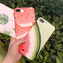 Super Fashion Watermelon pattern Cover Soft TPU Silicone Case sFor Apple iPhone 6 6S 6 Plus 7 7 Plus iphne Funda Coque iphon 6
