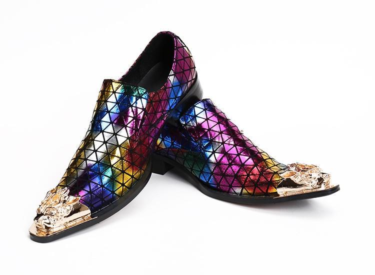 Couro Dedo Sapatos Aço Vestido Do Picture De Picture Oxford As Misturadas Para Dos Zapatillas Pointy as Sapatas Homens Size47 Genuínos Ouro Cores Hombre Pé Baile AIUqyw6E