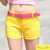 2016 Pantalones Cortos de Mezclilla caliente Slim Fit ladyies Pantalones Vaqueros Cortos femeninos Mujeres sin cinturón elástico atractivo de la cintura caliente