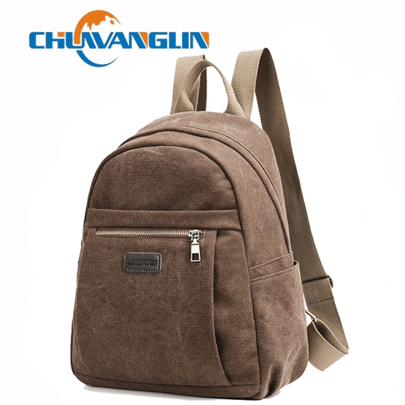 Us 14 63 55 Off Chulin Vintage Women S Backpack Casual Canvas Backpacks Fashion Preppy Style School Bags Simple Travel Laptop Bag S6026 In