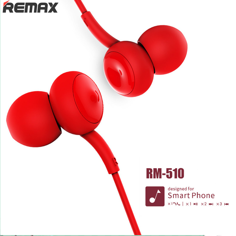 2018 The lowest price Remax 510 Earphone Touch Music Wired Headset Noise Cancelling Earphone For iPhone Xiaomi Mobile phone