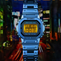 LED Digital Sports Watches Women Stainless Steel Military Waterproof Girls Ladies Wristwatches relogio feminino SKMEI
