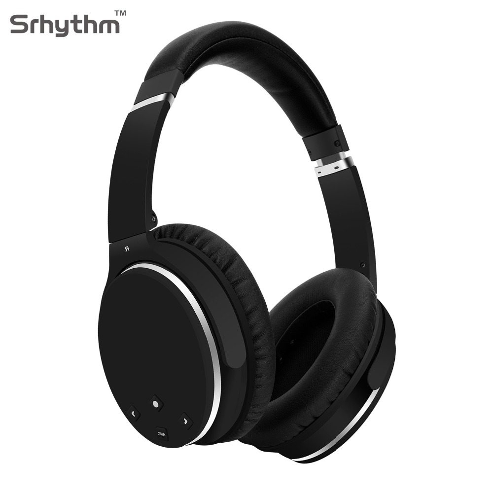 Bluetooth Wireless Noise Cancelling Headphones Hifi Foldable ANC Over Ear Earphones deep bass Headset with microphone srhythm anc wireless bluetooth headphones active noise cancelling folable headset with rotal design over ear headphone fone de ouvido